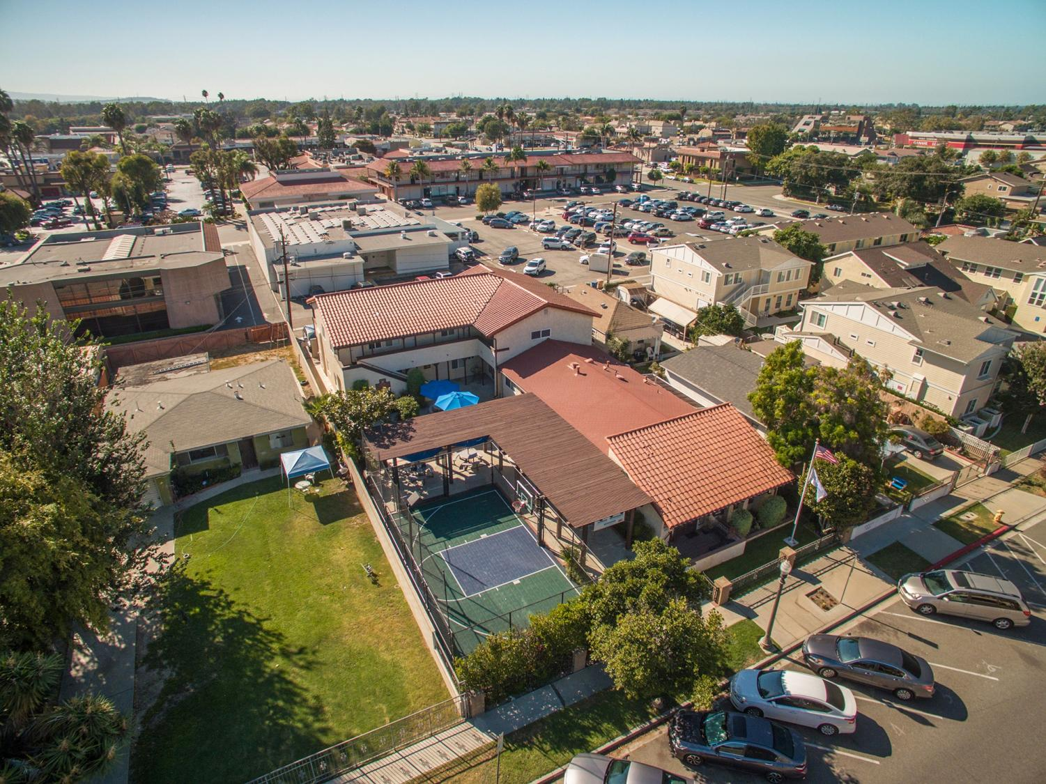 An aerial view of the Casa Youth Shelter facility.
